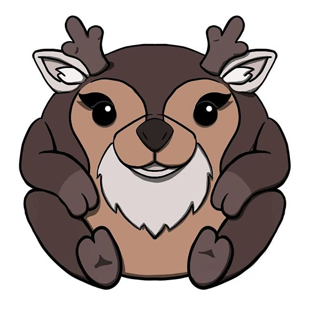 white tailed deer submission to #squishable