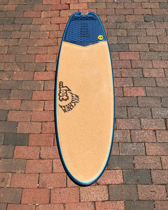 "Got Lost in the summer crowd this morning on my 5'3"" split tail Couch Potato by @mayhemb3_mattbiolos @lostsurfboards built in C3 cork  and carbon construction by @inspiredshaper Love this thing! Such a summer bummer beater and it feels tailor made for the Controllers from @futuresfins #lostsurfboards #inspiredshaper #cork #carbon #surfboard #ronsquiver"