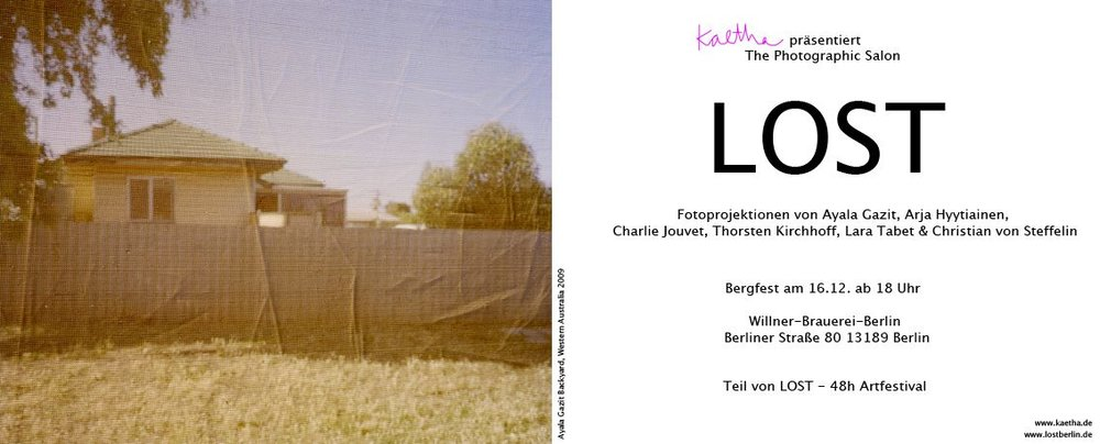 Was it a Dream in a group as part of  LOST art festival Berlin  2017 curated by  Kaetha