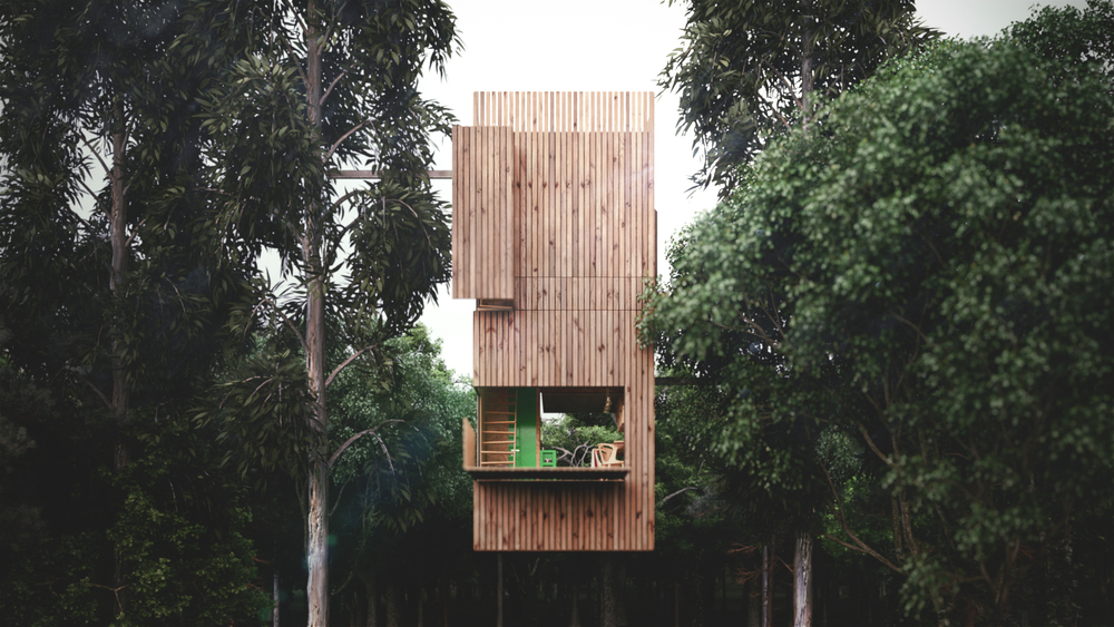 70m High Treehouse