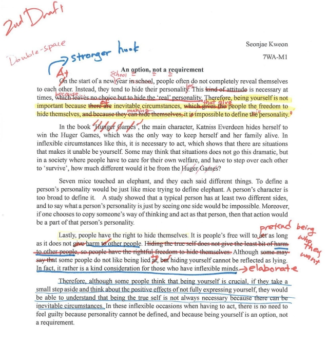 essay writing peai 3 finally using the edits and suggestions students will write the final