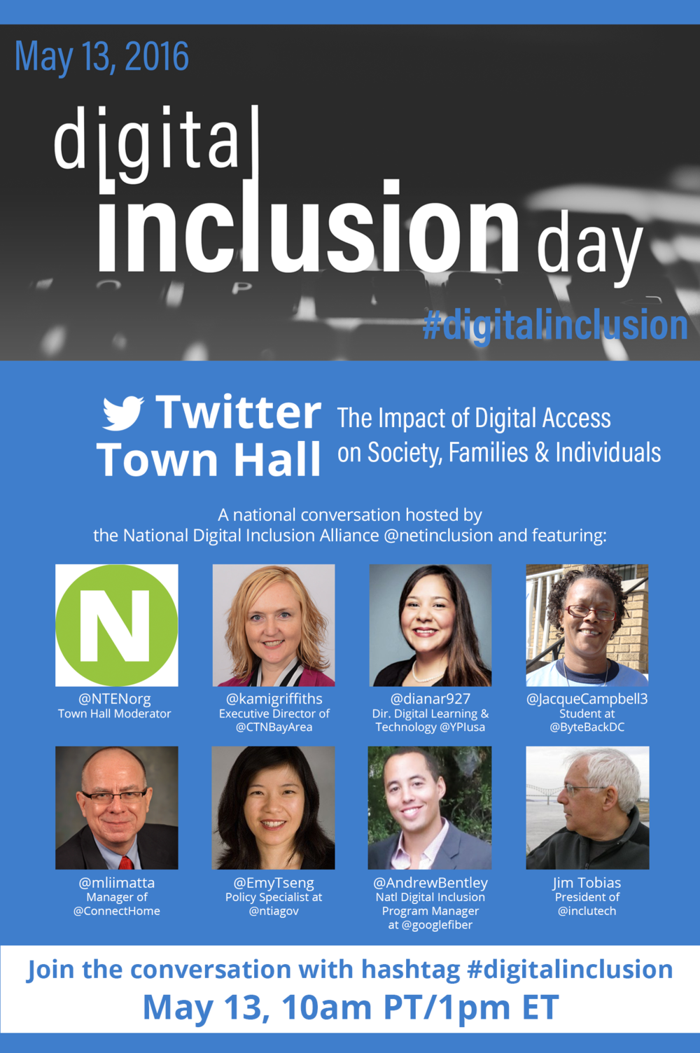 NDIA Twitter Town Hall Flyer