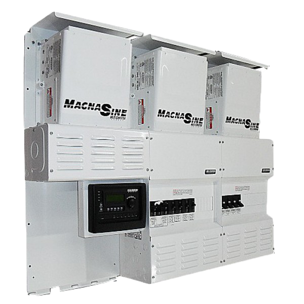 The MS-PAE can be stacked all the way up  to 17.7 KW of pure SineWave Power.