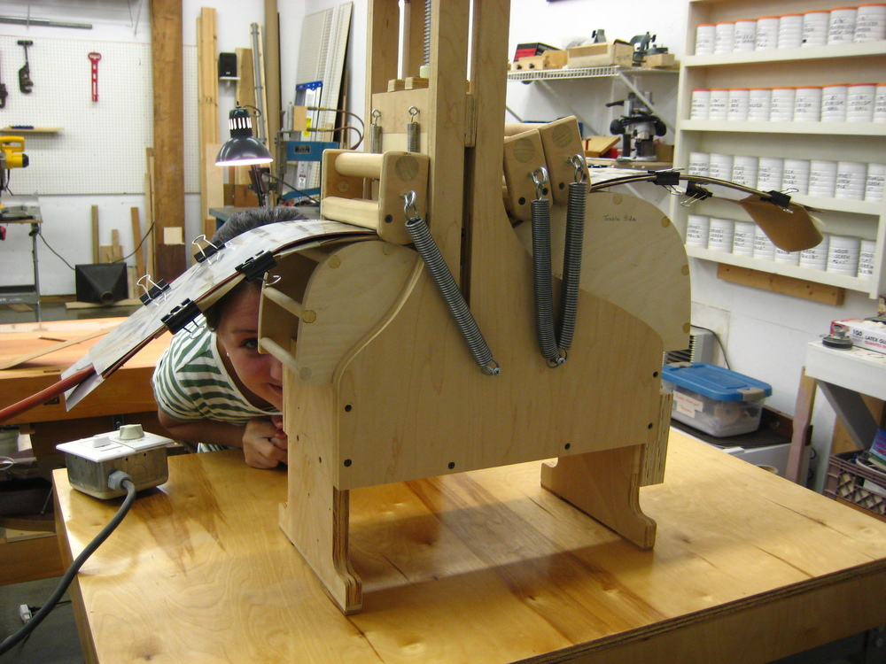 Lauren with side bending jig