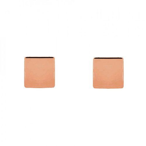 4238ca19e Sterling Silver Flat Square Stud Earrings — The Beau & Bauble