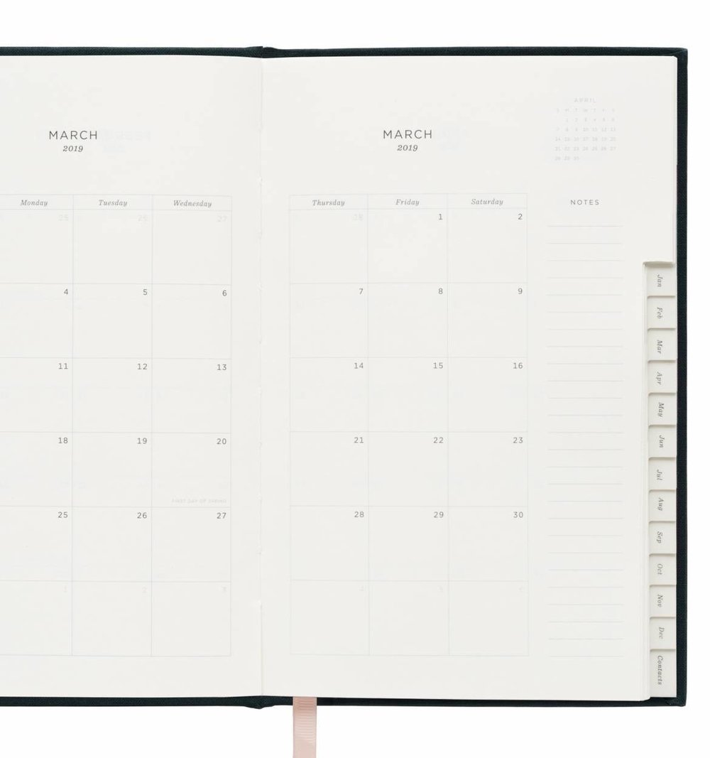 rifle paper 2019 navy 12 month planner the beau bauble
