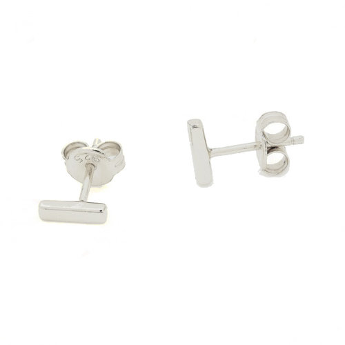 f77d0eaec Sterling Silver Mini Bar Stud Earrings — The Beau & Bauble