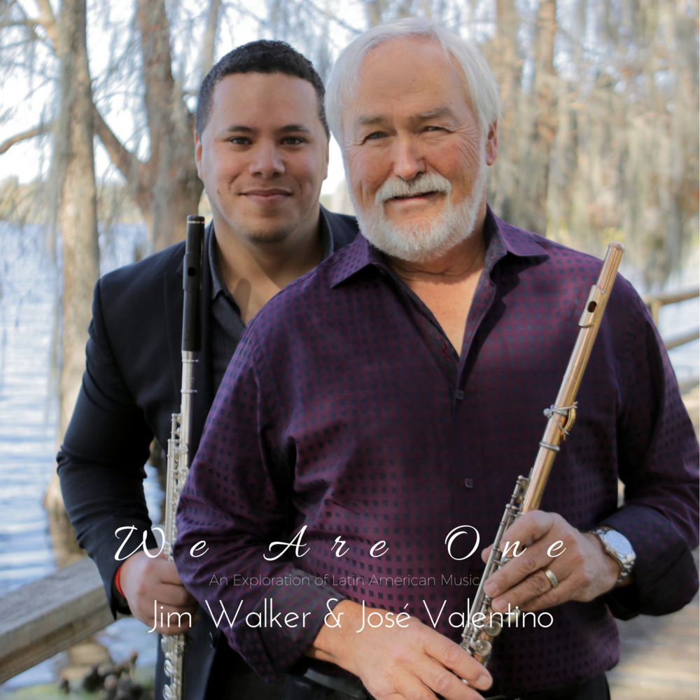 Ground Breaking World-Fusion Jazz album with legendary flutist. - In 2013, Jim became intrigued with the vast richness of diversity existing among Latin American cultures and the unity that is present among them. His acquisition of learning about the plethora of folkloric rhythms and stylistic variances of flute playing in Latin-based genres ignited a burning passion to embark on a musical project that would (1) portray the beauty, diversity, and unity of Latin American cultures; (2) display the integration of Latin cultures with other cultural regions (i.e. U.S.A., Middle East, Ireland, West African), and; (3) expand the repertoire of flute music to provide opportunity for Classical flutists to learn and appreciate flute music in ethno-musical contexts. To make this project a reality, Jim Walker teamed up with Puerto Rican composer/producer/flutist, José Valentino, to create 15 exciting cross-cultural compositions that encompasses a musical celebration of 20+ cultures from around the world supplemented with the technical demand of Classical music, rhythmic prowess of Afro-Latin American drumming, improvisational spirit of Jazz music, tinges of Middle Eastern, Irish, and Chinese musical phrasings, and the enthusiasm of two generations colliding as one spirit! Thus, the project was completed in 2016 and appropriately entitled: