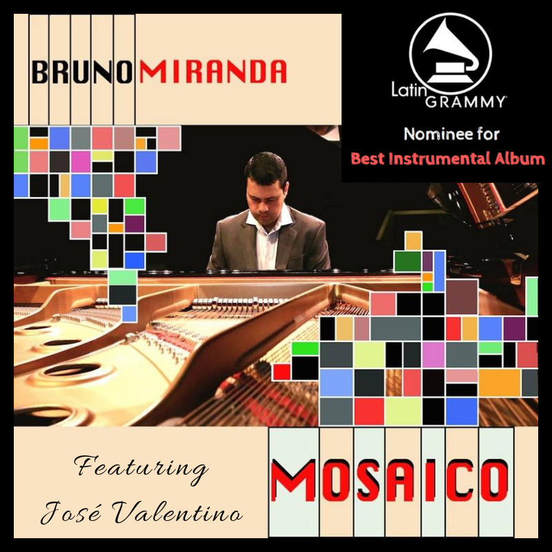 Latin GRAMMY ®  Award Nominated for Best Instrumental Album of The Year in 2016. This project showcases the collaborative work of Bruno Miranda and José as they produced a fun contemporary instrumental pop album that fuses Brazilian music, gospel music, and jazz.