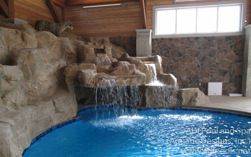 Fountains waterfalls adi pool spa residential and for Residential swimming pool