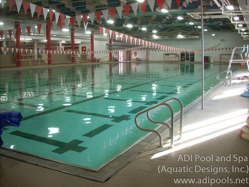 Competitive venues adi pool spa residential and commercial pools for How many meters is a swimming pool