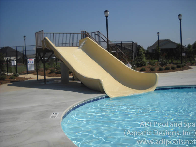 Recreational facilities adi pool spa residential and - Commercial swimming pool water slides ...