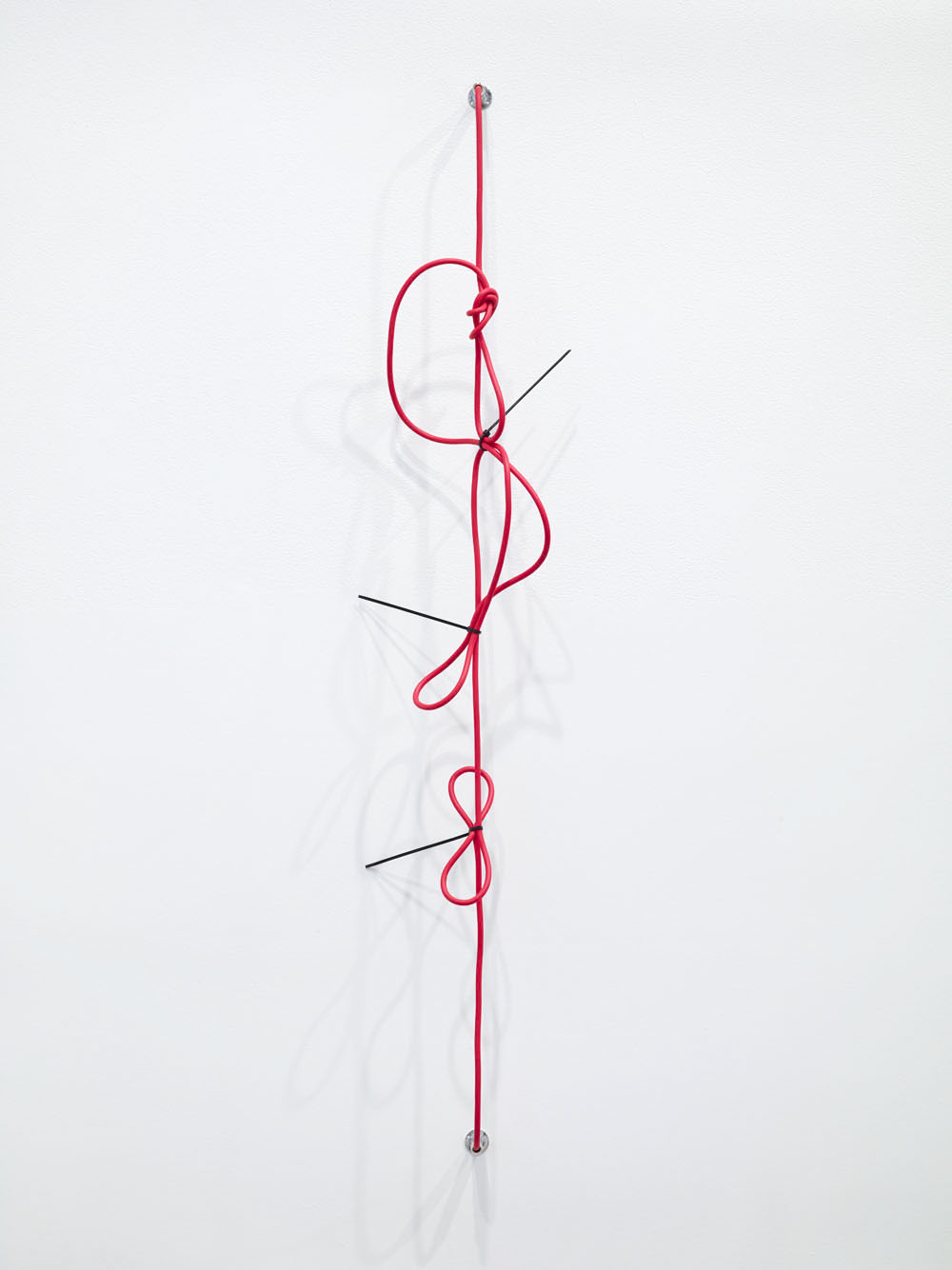SHHH, The Red Series #2, Noise cancelling instrument cable, cable ties and endpin jacks 44 x 9 x 4.75 inches 2014