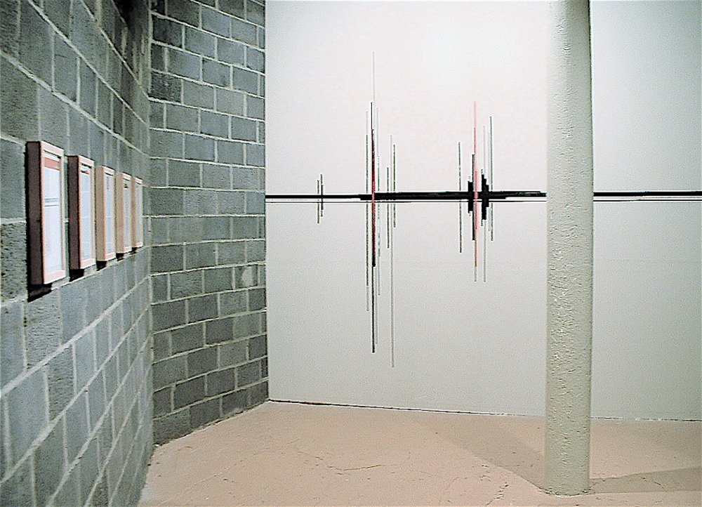 A/V Sound Wave Wall Drawing,  Triple Candy Gallery Harlem, NY 200