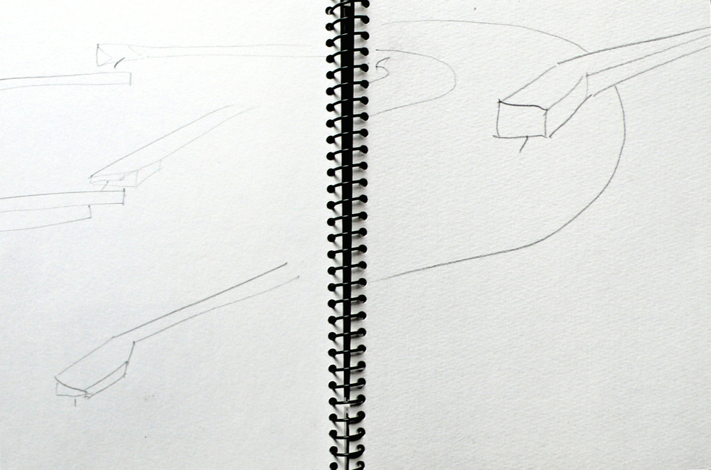 Movement, LP Gesture,  sketchbook page, 2005