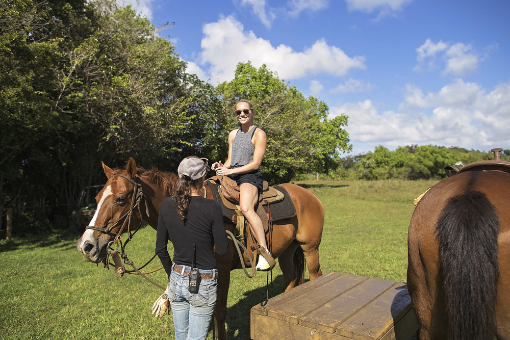 Horseback riding at Princeville Ranch, Kauai