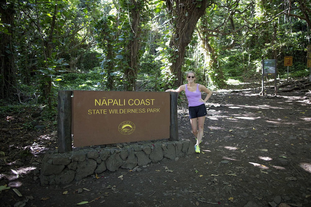 One of our favorite parts of the trip - Hiking the Napali Coast.