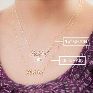 18k gold plated arabic name necklace thewritefashion 18k gold plated arabic name necklace mozeypictures Image collections