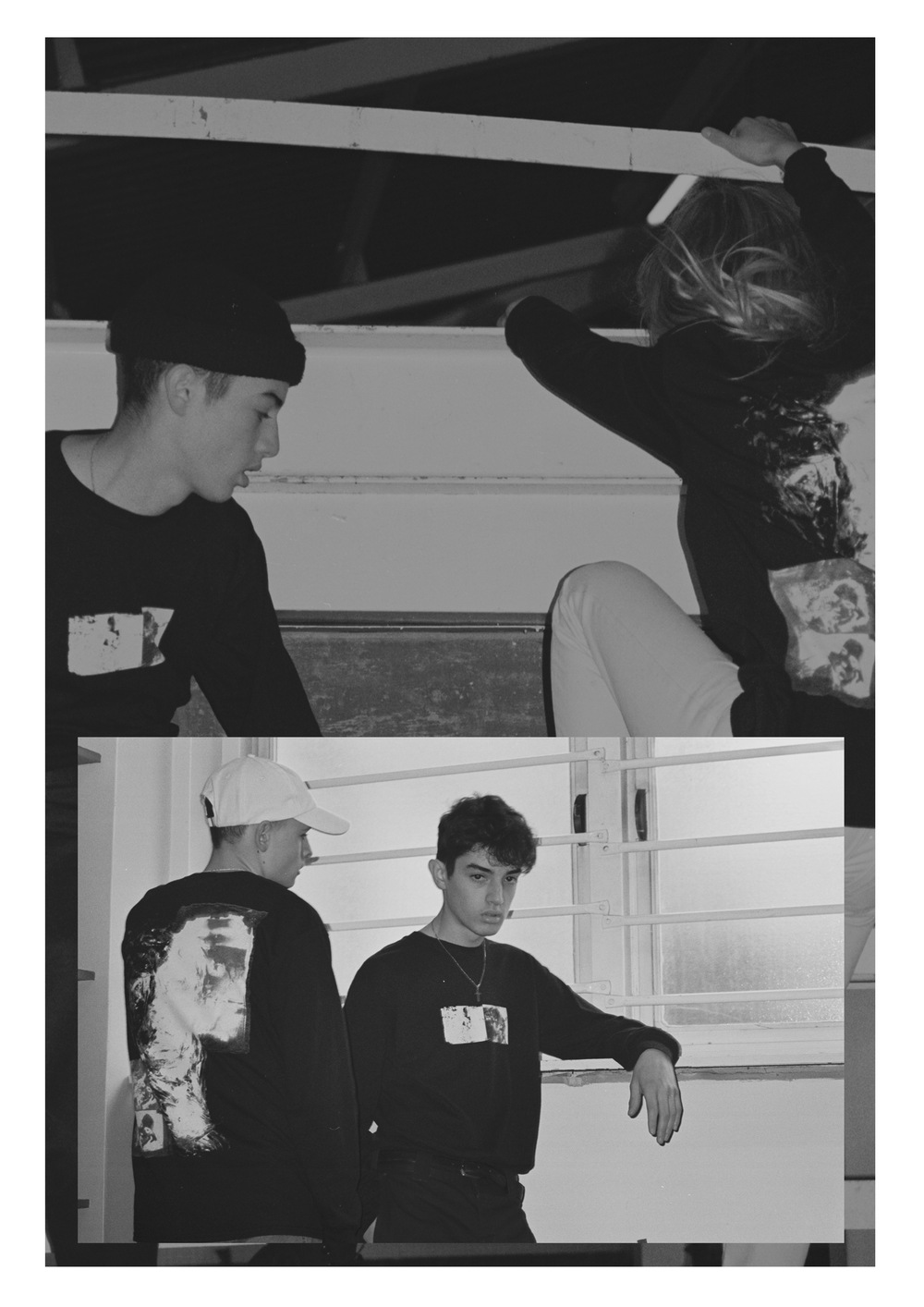Models Tabbie Brewer (@tabbiebrewer), Jay Izzard (@jayizzard) and Ibrahim McGinty (@ibrahim_mcginty)