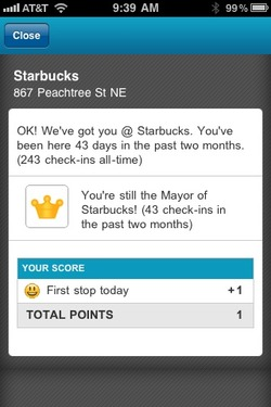 This is what happens when you live one block away from Starbucks. The perks of going there this many times? You never have to order because they all know what you drink and your coffee's done by the time you finish paying. And they address you as Mr. Mayor.  :)