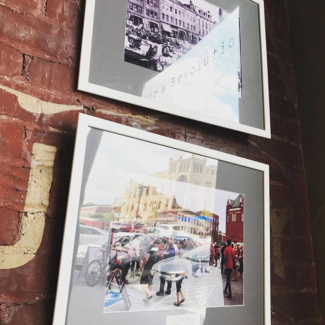 Such a sweet collection of old and new photos of Stratford up @revelstratford right now! If you are staying at the welly it will take you 1 minute to walk there! GO! #photography #oldandnew #heritagestratford #strafordon #stayatthewelly