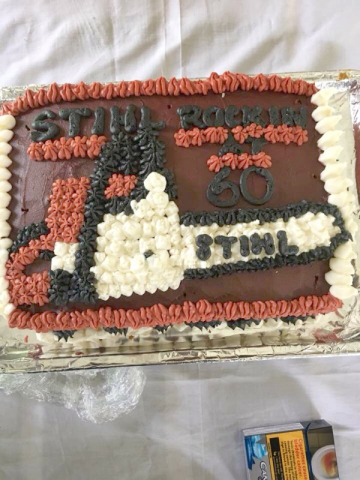 STIHL ROCKIN'!!! Gord's 60th birthday cake.
