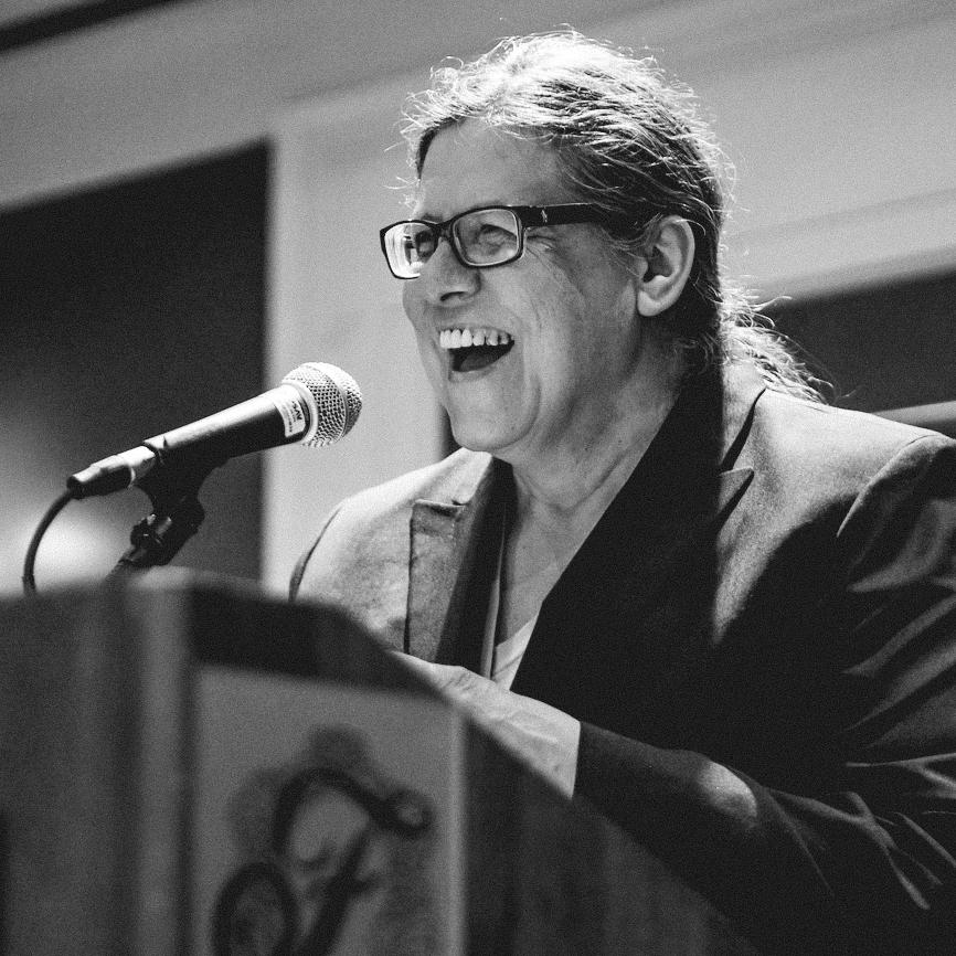 Donna Besel reading at Calgary Creative Nonfiction Collective Society Conference May 2014 Photo credit Leo Aragon