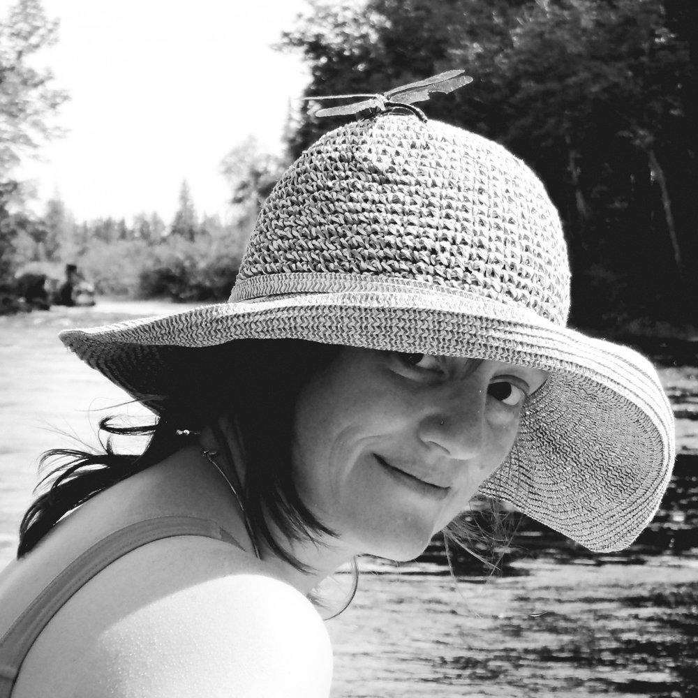 Lauren Carter at the lake