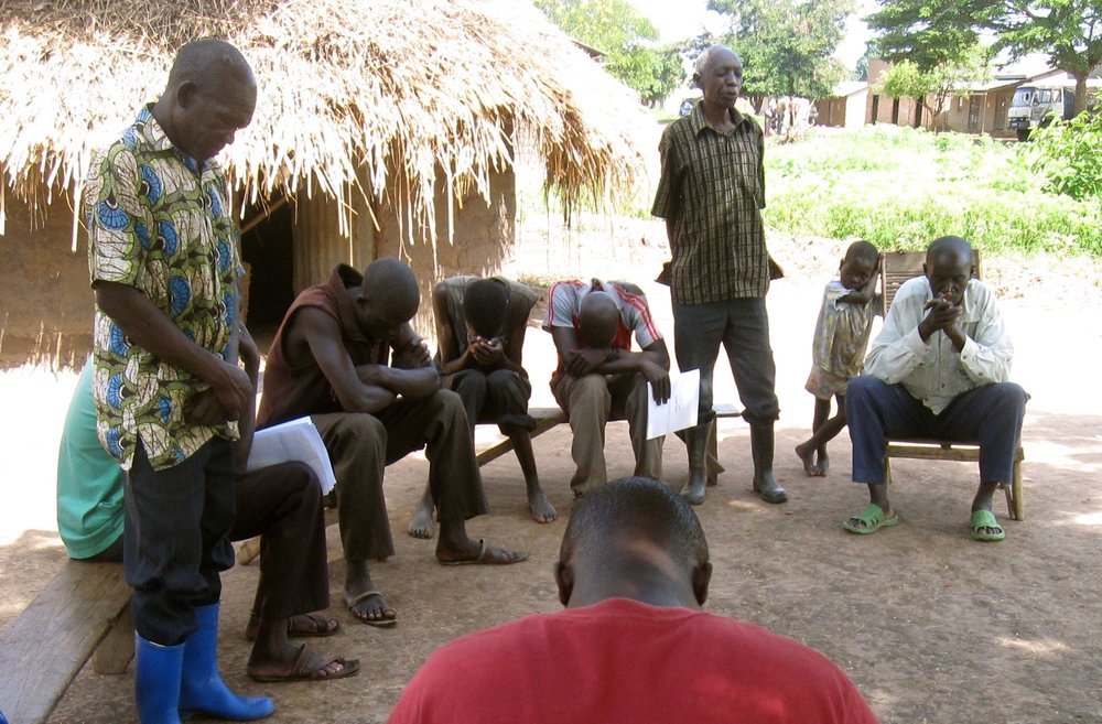 Step 2:  Water Committee     Tukutana staff form a water committee comprised of church leaders and village officials. The committee meets regularly to pray for the well and its users, and to ensure the well is being properly maintained. The group also resolves any conflicts surrounding the water source.