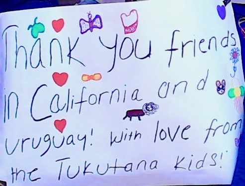 Hello to our friends in Uruguay, from the Tukutana Kids!