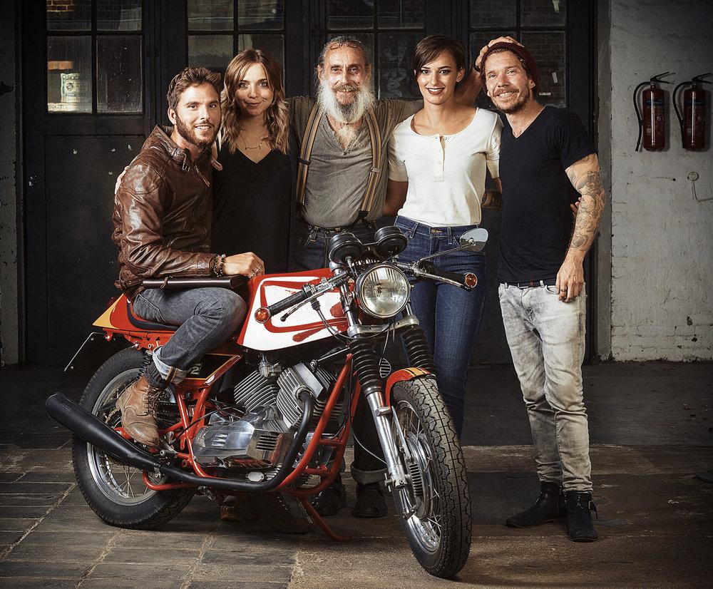 Das Team (von links nach rechst): Stephan Weikert, ich, Gerd Lehmann, Modell Tina, Dani/VonBerg Photography