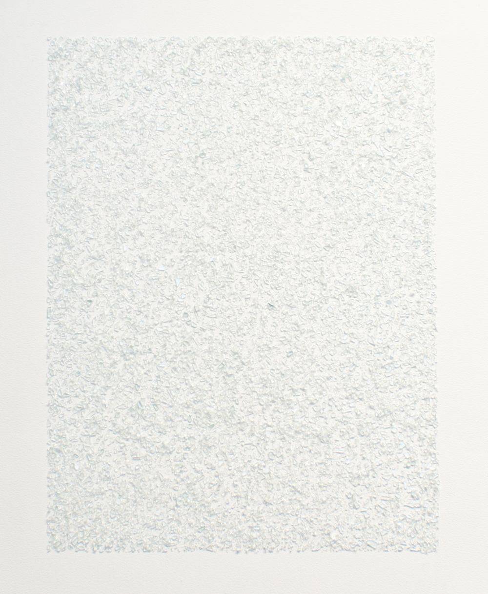 Ragna Róbertsdóttir   Glacier , 2015 crushed glass, adhesive dimensions variable