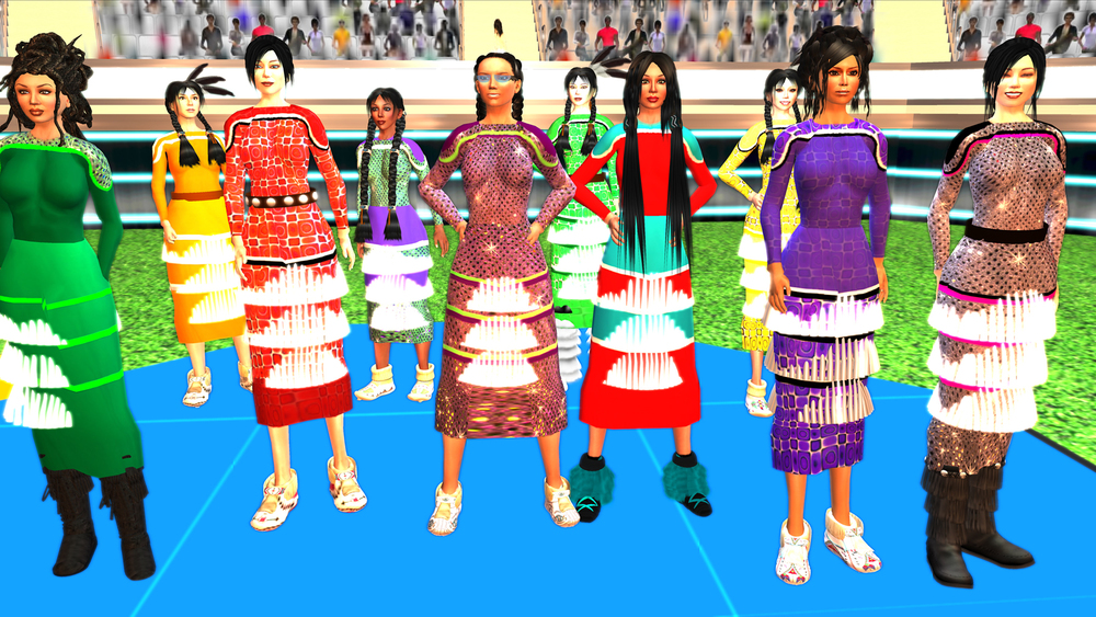 Skawennati  still from  TimeTravellerTM , 2008 - 2013  machinima single channel video with sound duration: 75'43""