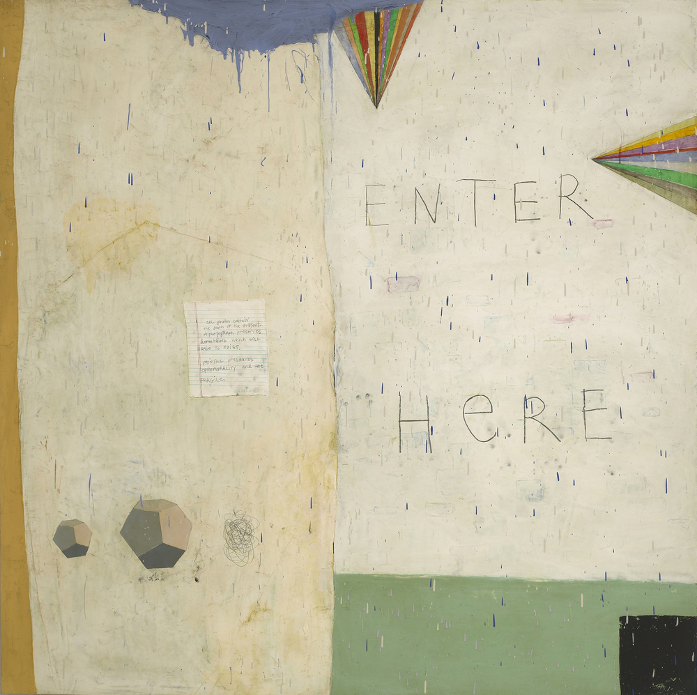Squeak Carnwath   Beginner , 2008 oil and alkyd on canvas over panel 70 x 70 inches 177.8 x 177.8 cm