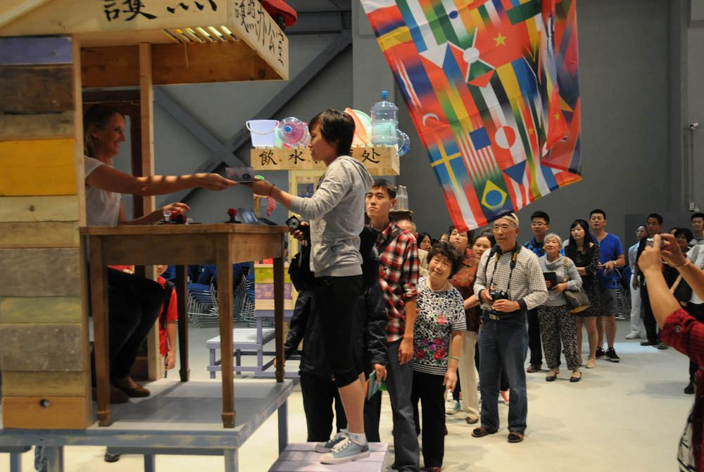 Antarctica World Passport Delivery Bureau, 9th Shanghai Biennale, China, 2012.