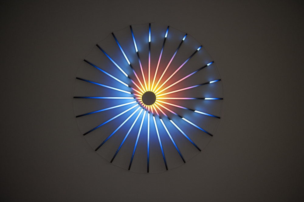 Awake in Your Sleep,  2016 LED lights, filters 74.8 in/190cm diameter