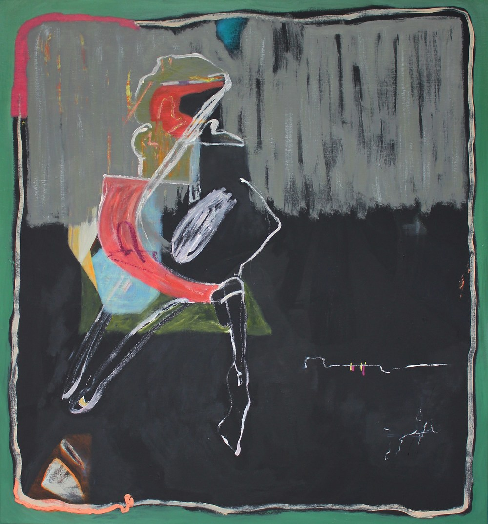 "Sarah Dwyer, ""Potrero,"" 2015, oil on linen, 142 x 132 cm"