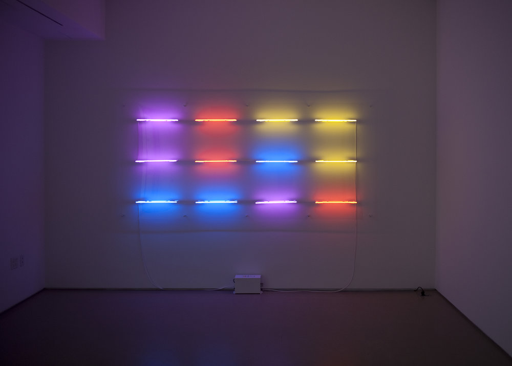 Shezad Dawood   Pondicherry Mon Amour (after Antonin Raymond) , 2011 wall-mounted neon 35.43 x 110.24 inches 130 x 280 cm Edition 1 of 2
