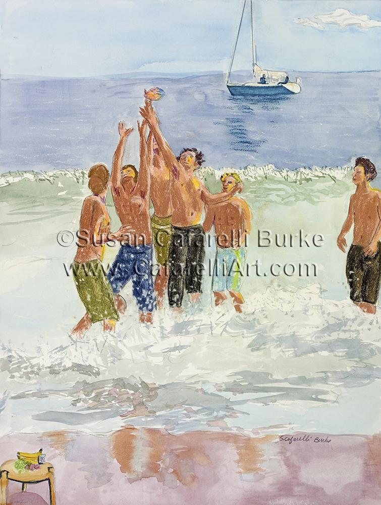 Les Dudes of Santa Cruz in Water