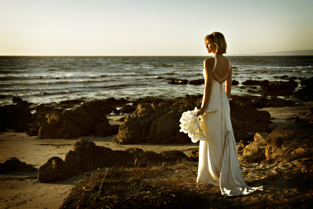 My version of a bridal portrait taken at Spanish Bay