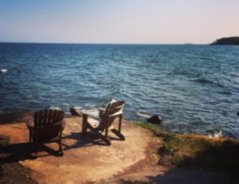 two chairs, Lake Superior . photo: John Sawyer