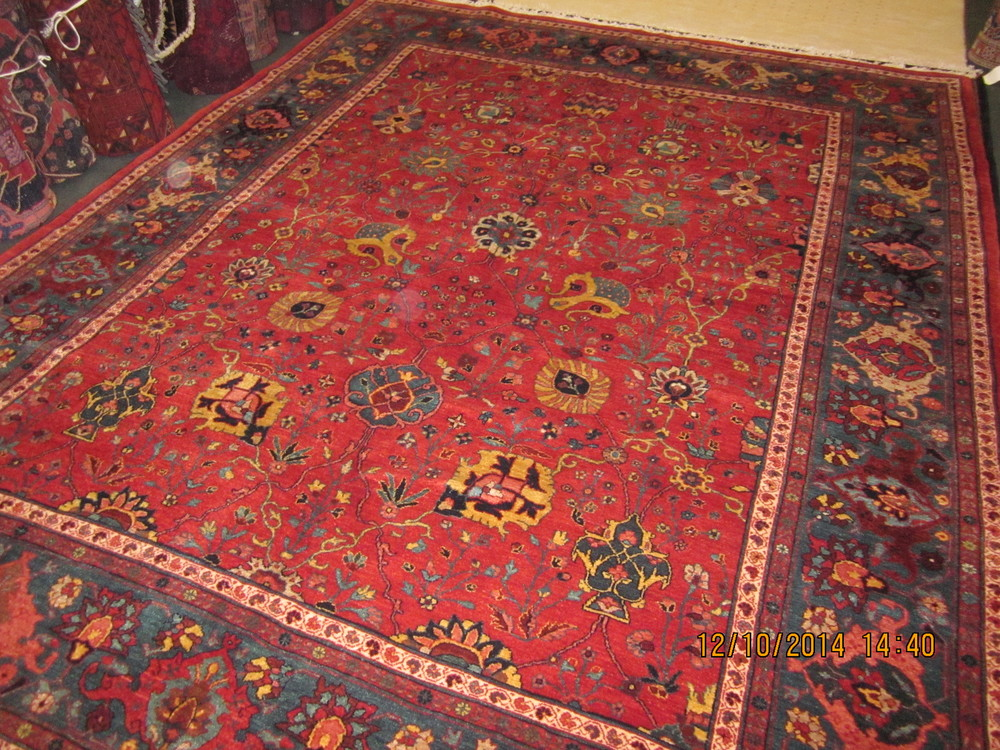 """#21) 8'2"""" x 10'8"""" Persian Bijar. New rug, antique design. Beautiful Persian tribal rug with superlative colors and design. Leaves nothing wanting!"""