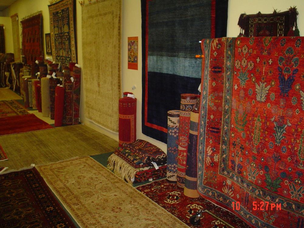 Inside Paradise Oriental Rugs, Sebastopol, CA. 707-823-3355