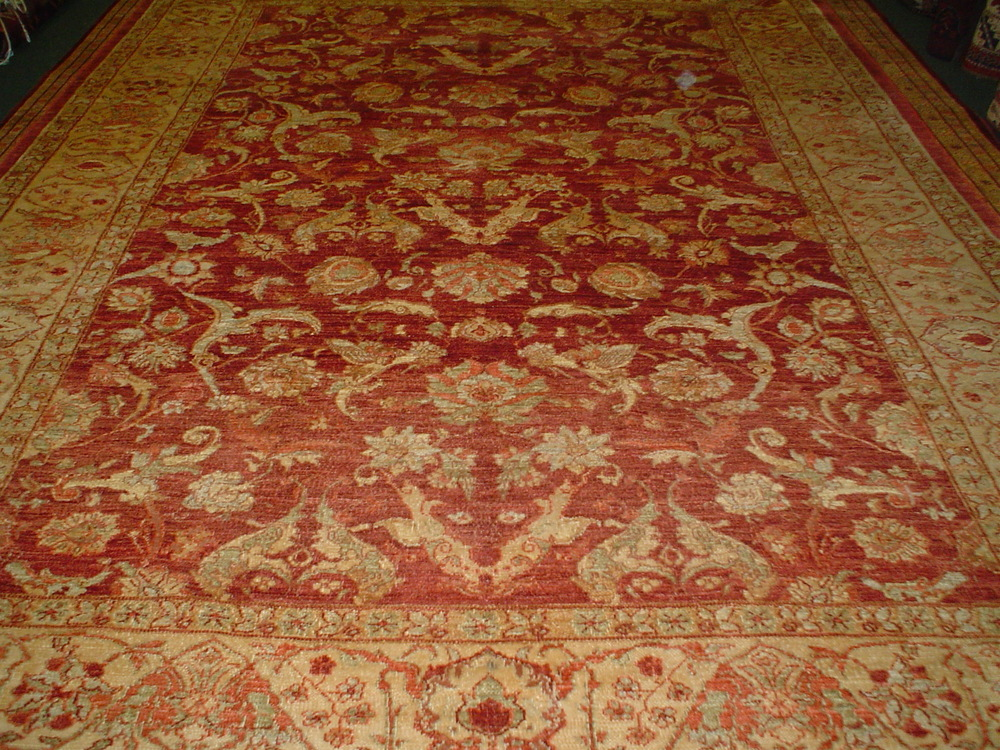"#8) 8' x 10' 3"" Agra design Oriental carpet, woven in Afghanistan. Great Afghan wool, well made (durable) and gorgeous!"