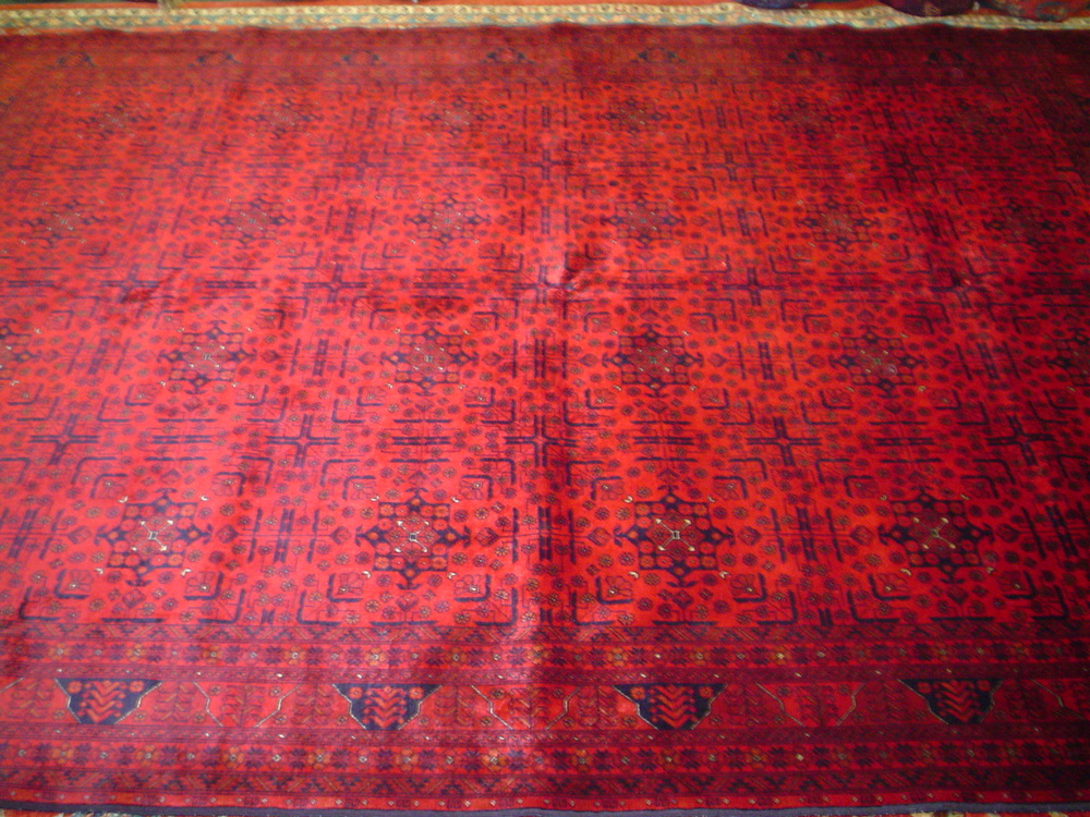 "#14) 6'8"" x 9'7"" Very finely woven Turkoman rug from Afghanistan."