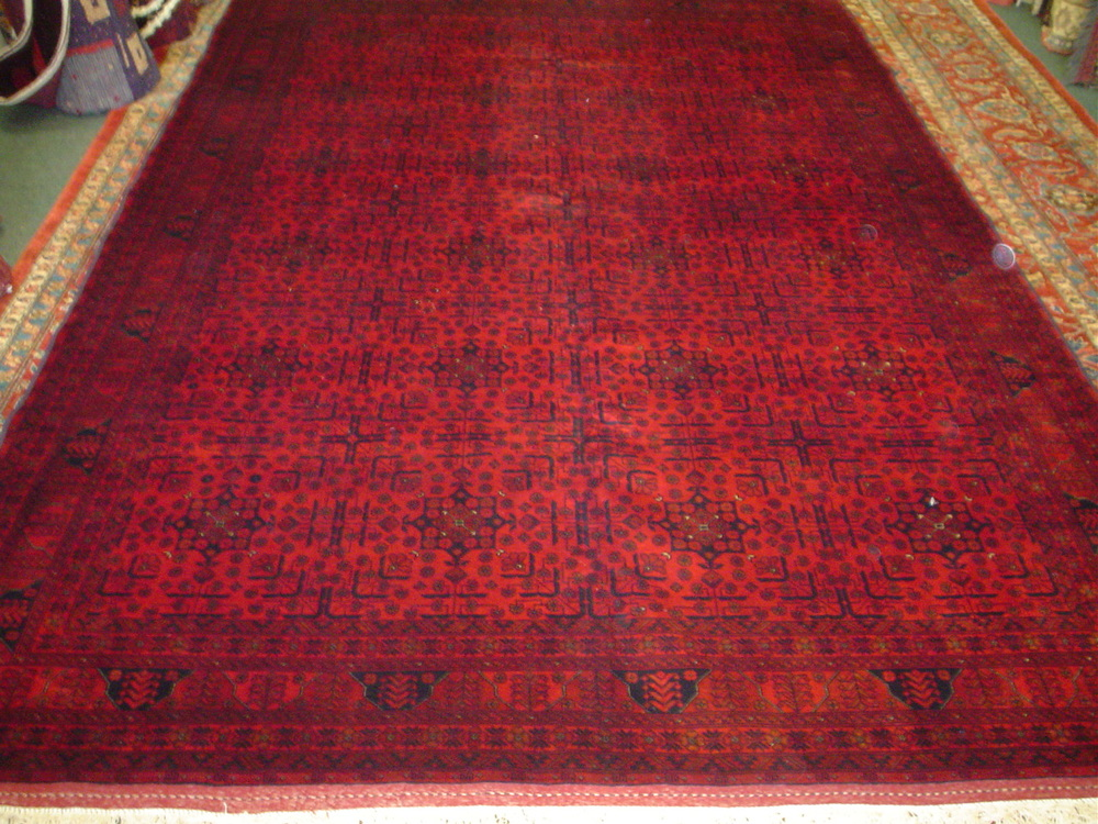 "#22) Beautiful new Turkoman rug in deep wine red.  8'5"" x 11'6"""