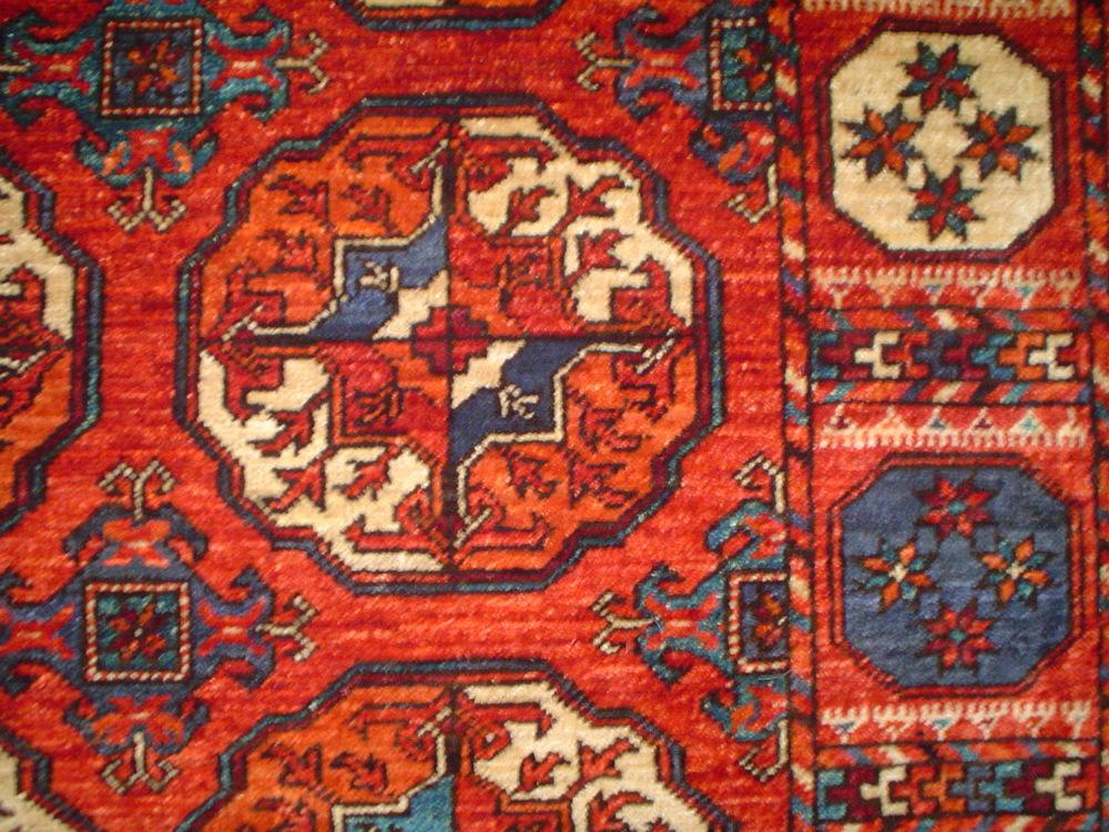 #7) Ersari Turkoman 4 x 6 close-up.