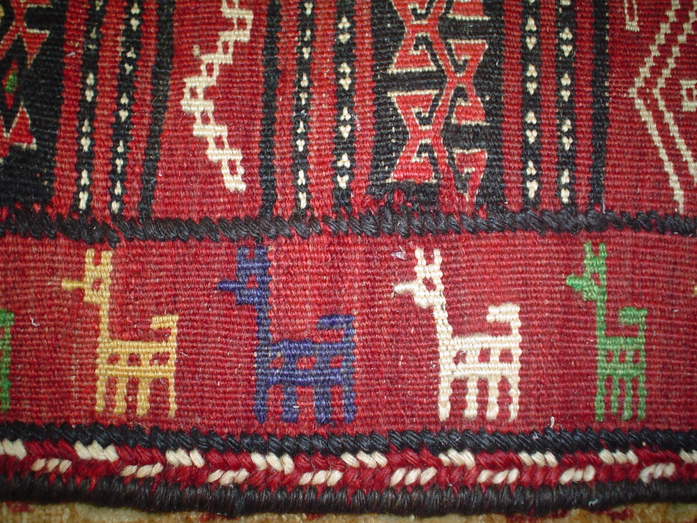 #14) Quchan kelim, NE Iran, Kurdish piece.