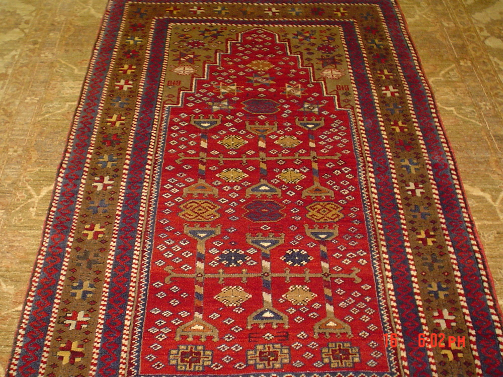 """#12) 3'8"""" x 6 Turkish rug. Handsome piece."""
