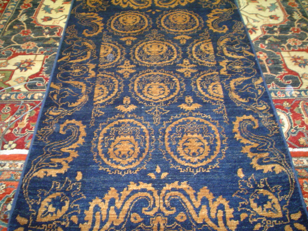 """#13) 3'2 x 5'1"""" Ottoman design rug woven in Afghanistan."""